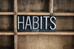 """Sign that reads, """"Habits"""""""